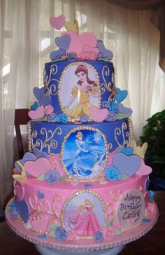 Disney Princesses Cake my baby girl would love this!