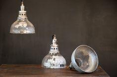 Silvered Holophane Boiler Room Pendants
