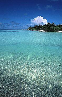 The sea of Maldives.