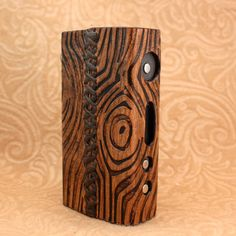 Wood Grain Leather Vaping Sleeve Case Wrap for E-Cig by SillyNilly