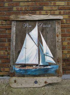 penduick-gréement-bateau-bois-bois-flotté-tableau-bretagne-mer-acylique-voiles -lorient - voiles