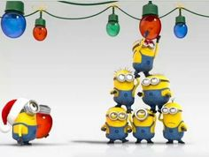Despicable Me Frolic minions wish Merry Christmas Amor Minions, Cute Minions, Minions Despicable Me, Minions Quotes, Minions 2014, Evil Minions, Funny Minion, Minion Christmas, Christmas Humor