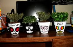 DIY Day of the Dead Planters by ZebrasHateHail, via Flickr