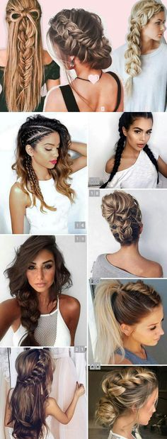best braided hairstyles summer 2017 for long hair end short hair. Loose Braid Hairstyles, Trendy Hairstyles, Ponytail Hairstyles, Braid Styles, Short Hair Styles, African Hairstyles, Hair Pictures, Hair Dos, Hair Inspiration