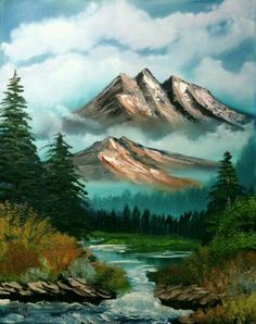 What is Your Painting Style? How do you find your own painting style? What is your painting style? Abstract Landscape, Landscape Paintings, Acrylic Paintings, Bob Ross Landscape, Artist Painting, Landscape Photography, Nature Photography, Photography Tips, Peintures Bob Ross