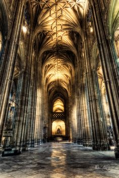 Canterbury Cathedral nave in Canterbury, Kent, England. #Cathedrals #MostBeautifulArchitecture
