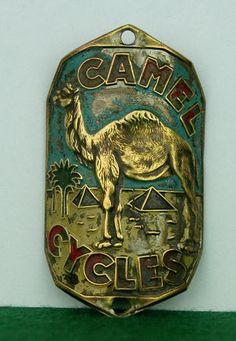 Old Headbadge Camel Cycles Old Bicycle Badge Plate Emblem Lefol Simplex | eBay