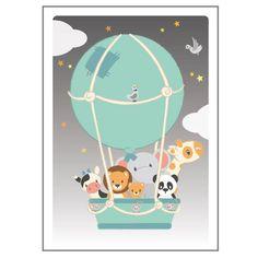 Studio Circus plakat, Luftballon - 50 x 70 cm