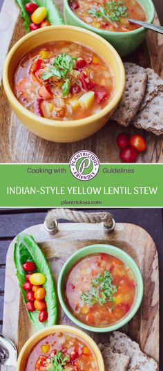 Looking for a nutrient-rich, spicy and savory dish? Try this delicious plant-based (vegan), oil- and salt-free, gluten-free recipe for Indian-Style Yellow Lentil Stew. Lentil Stew, Lentil Curry, Vegan Gluten Free, Gluten Free Recipes, Yellow Lentils, Tomato Vegetable, All Vegetables, Savoury Dishes, Indian Style