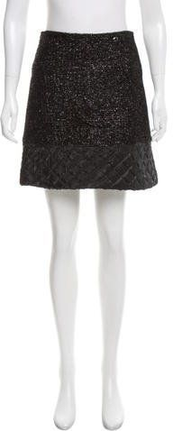Chanel Metallic Quilted Skirt