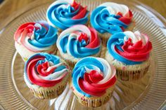 4th of july funfetti cupcakes