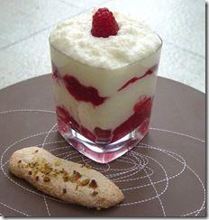 Raspberry Tiramisu - again individual servings