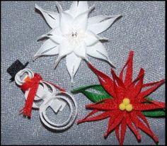 Winter Wonderland Ribbon Art Hair Clippies