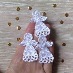 Crochet Christmas Decorations, Crochet Christmas Ornaments, Christmas Crochet Patterns, Crochet Snowflakes, Holiday Crochet, Angel Ornaments, Christmas Angels, Christmas Crafts, Etsy Christmas
