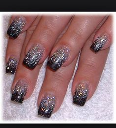 nails to die for | To Die For Glitter Design For Nails! ⓣ