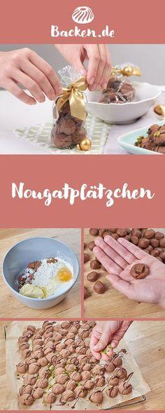 Überrasche deine Liebsten doch mal mit einem ganz besonderen Plätzchenrezept - Nougat und Pistazien, das ist eine tolle Kombination.