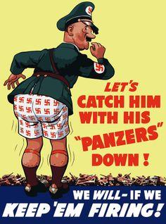 American propaganda poster, 1943.