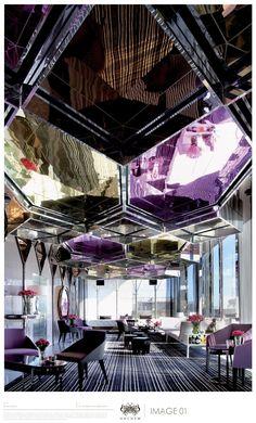 Stunning interior design at Mon Bijou Level 10 Adelphi Hotel, Melbourne… Design Hotel, Bar Interior Design, Küchen Design, Restaurant Design, Commercial Design, Commercial Interiors, Architecture Design, Architecture Interiors, Espace Design