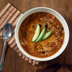 Crockpot Chicken Enchilada Soup by sotastysoyummy #Soup #Chicken #Enchilada #Crockpot