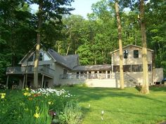 Keuka Park Vacation Rental - VRBO 228361 - 5 BR Keuka Lake House in NY, Luxury Lake Home on Beautiful West Bluff $4500/week - right in the park! waterfront! sleeps 12