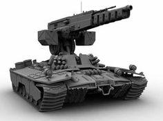 http://shadowspark.deviantart.com/art/random-futuristic-tank-46762404