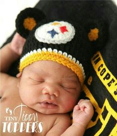 Steelers Baby Gear crochet hat Pittsburgh Steelers Hats ddf585a27