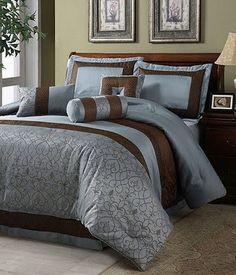 Combinação perfeita: azul e marrom Ambientes decorados com tons de marrom e azul ficam lindos e aconchegantes.......