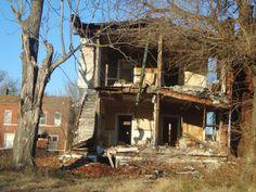 Rear View of 3812 Labadie Avenue - Courtesy of Geo St. Louis