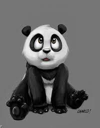 Картинки по запросу панда рисунок карандашом