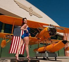 Warbird Pinup Girls Calendar photos featuring pin up girls with WWII aircraft Aviation Humor, Aviation Art, Military Jets, Military Aircraft, Steampunk Mechanic, Pinup, Amphibious Vehicle, Pin Up Girl Vintage, Old Planes