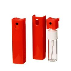 "Red Refillable Perfume Atomizer Spray for Purse or Travel 1/3oz .33 Fl. Oz. 10ml. INCLUDES 1 FREE 5ml. DROPPER FOR EASY FILLING by Natural Cosmetics. $5.50. travel size. 3.5"" Pocket Size Perfume Spray Bottle. purse size. Refillable. Red Refillable Perfume Atomizer Spray for Purse or Travel 1/3oz .33 Fl. Oz. 10ml.. Save 35% Off!"
