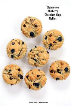 Gluten free Blueberry Chocolate Chip Muffins | Vegan Richa