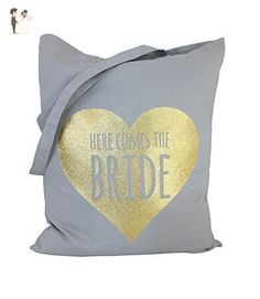 Wedding Tote Bag, HERE COMES THE BRIDE Tote Bag, Wedding Tote, BRIDE Tote, Wedding Tote Bag, Hen Party Bag, Wedding Favour - Wedding favors (*Amazon Partner-Link)