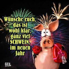 New Year greetings - Neujahrsgrüsse - Duitsland decor New Years Eve Games, New Years Eve Dinner, New Years Party, Cookie Party Favors, New Year's Eve Cocktails, New Years Eve Decorations, New Years Eve Weddings, Photo Booth Frame, Christmas Ad