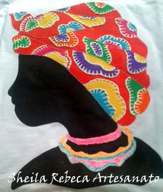 Camisa em malha de algodão pintada a mão
