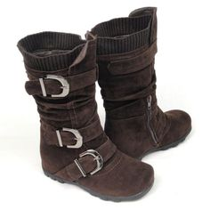 Kids Youth Girls' Faux Suede Knee High Buckle Flat Boots Brown , 9 KSC,http://www.amazon.com/dp/B008CN3YKA/ref=cm_sw_r_pi_dp_R.Z2sb1E189NCV0S