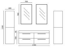 Ensemble de salle de bain design 1 vasque 100 cm Tonia | Pinterest