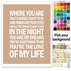 Dave Matthews Band Song Lyric Print Love Of by FancyThisPrints