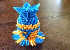 origami instructions - How to make 3d origami vase