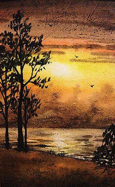 'Sunset At The Lake' - http://irina-sztukowski.artistwebsites.com/featured/sunset-at-the-lake-irina-sztukowski.html
