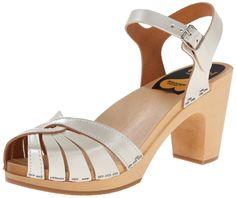 Amazon.com: swedish hasbeens Women's Fredrica Platform Sandal, Black, 6 M US: Shoes