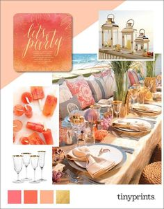 Mix sophisticated glamour with a laid back vibe then add blue water, white sand, palm trees, a warm breeze and a cocktail. Ahhh yes! We are loving this chic beach party theme right now, so we are sharing some fun and chic beach party ideas for you!