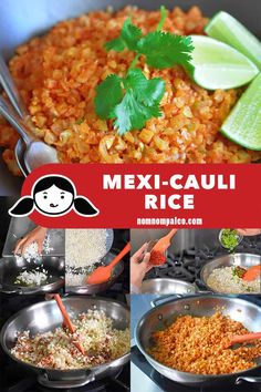Mexi-Cauli Rice (Mexican Cauliflower Rice) - Nom Nom Paleo® - This simple Mexi-Cauli Rice is made from pantry staples and cauliflower. This low carb Mexi - Nom Nom Paleo, Paleo Recipes, Mexican Food Recipes, Paleo Food, Cooking Recipes, Paleo Rice, Eating Paleo, Mexican Meals, Paleo Meals