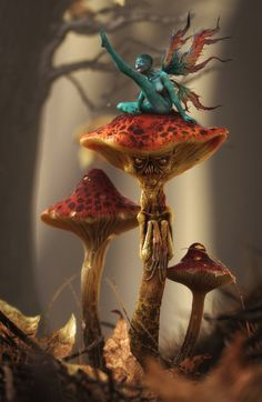 Things are not looking good for that poor unsuspecting fairy in this brilliant 3D scene by Laurent Pierlot