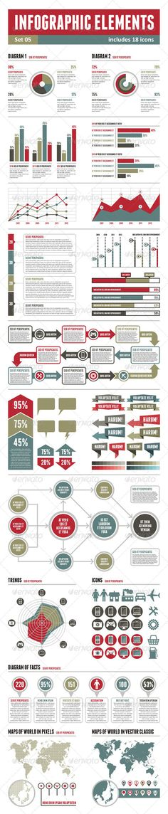 Infographic Elements - set 05 - GraphicRiver Item for Sale