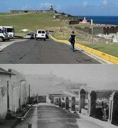 Antes y despues de la entrada de El Morro