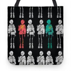 Browse our selection of apparel, mugs and other home goods. Skeleton Girl, Cute Tote Bags, Cool Artwork, Pop Culture, Original Art, Make It Yourself, Pillows, Halloween, Leather