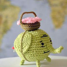 Tree Trunks Elephant pattern - Pops de Milk - [crochet] Patrón.