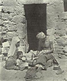 Bethlehem Palestine People   Bethlehem-Bethlehem: PALESTINE - Bethlehem 1904 - A worker in mother ...
