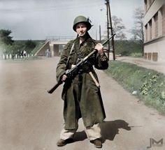 Member of Prague uprising. Prague, Czech Republic, Ww2, World War, Empire, Army, Military, Colour, Classic Cartoons